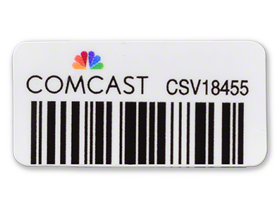 Rugged Comcast Asset Tag