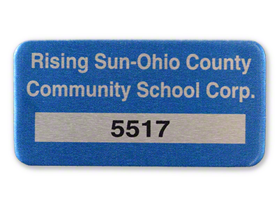 Ohio Numbered Asset Label