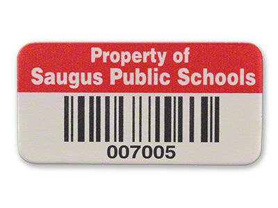 Saugus Metalized Polyester Asset Tag