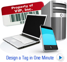 Design an Asset Tag in One Minute